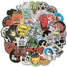 100Pcs/Lot Rock Sticker Music Retro Band Graffiti JDM Stickers to DIY Guitar Motorcycle Laptop Luggage Skateboard Car Decal Bomb