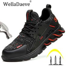 Men Steel Toe Work Safety Shoes Construction Outdoor Protective Footwear Puncture Proof Anti-smashing Ankle Boots Casual Sneaker men and women steel toe air work safety shoes lightweight construction outdoor sneaker anti smashing puncture proof ankle boots