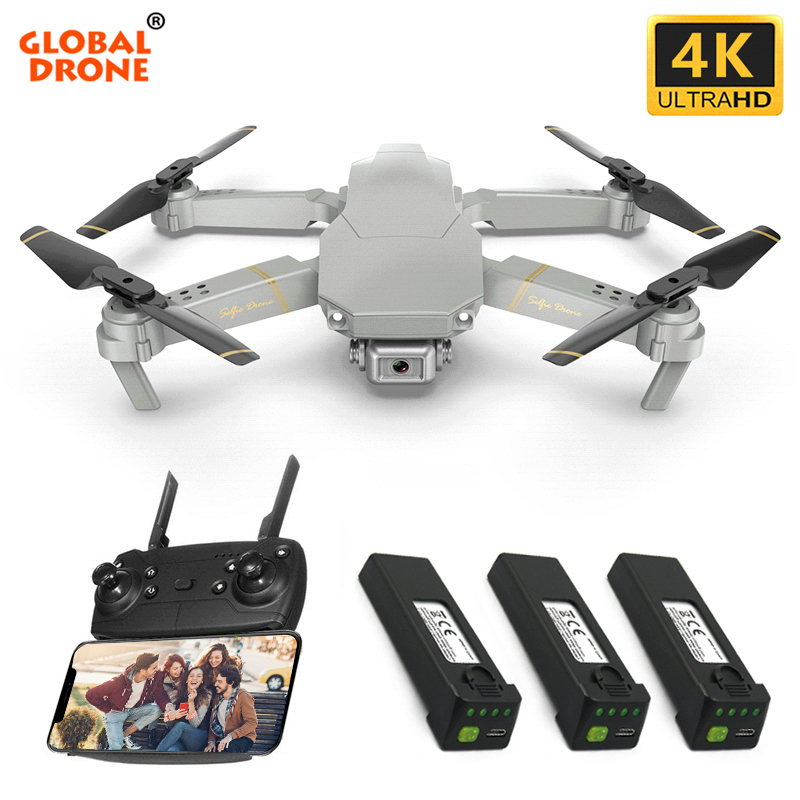 Drone Global ANU WIFI FPV quadrirotor avec 4 K/1080 P HD caméra grand Angle RC Quadrocopter Dron VS SG106 XS816 M70 E58 E520