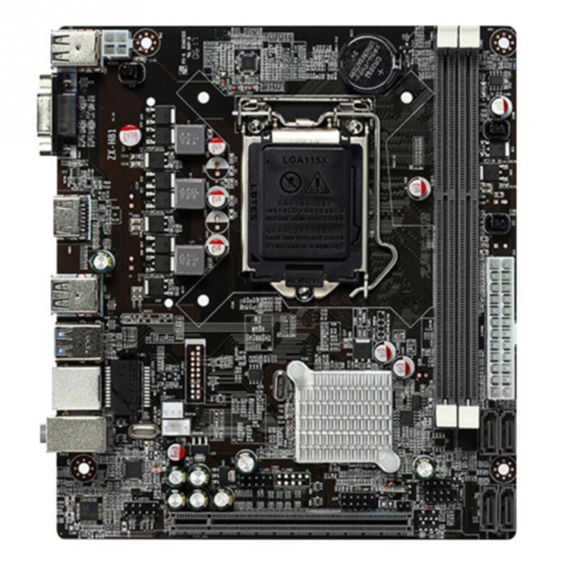 Carte mère LGA 1150 pour carte de contrôle de bureau Stable pour Intel H81 LGA1150 DDR3 carte mère pour jeu pour I3 I5 I7 Xeon