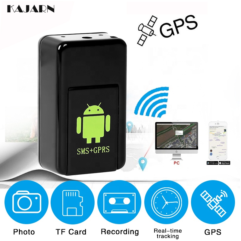 KAJARN GPS Trackers Children GF08 Universal Camera Activated Mini Remote Locator Voice Antilost Real Time GSM/GPRS Listening