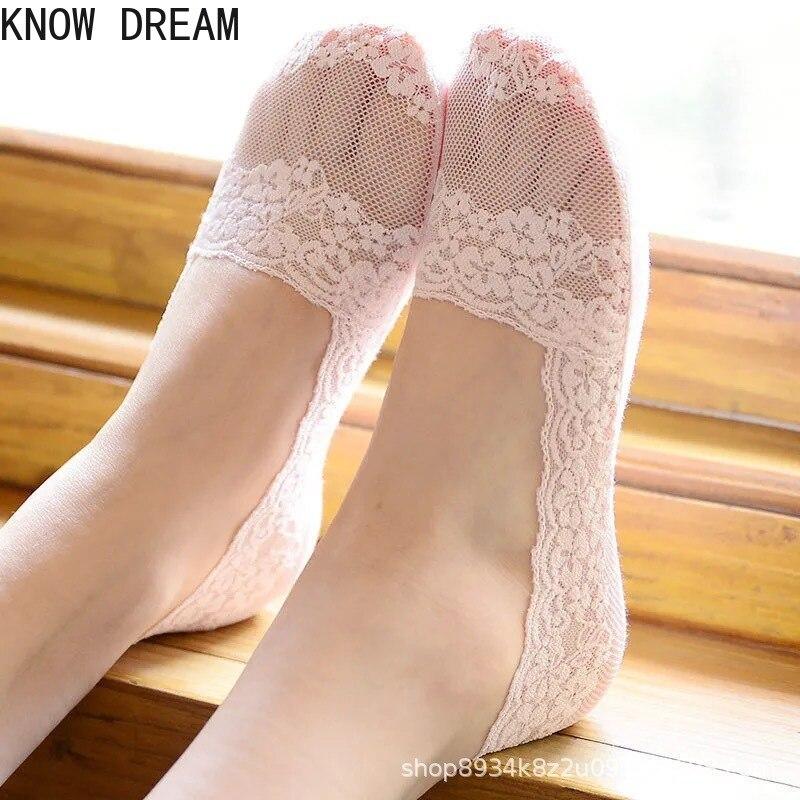 Узнайте мечта кружева следы оптовая продажа тонкие лодочкой носки; Кружевные носки-башмачки все незаметной силиконовой противоскользящей ...