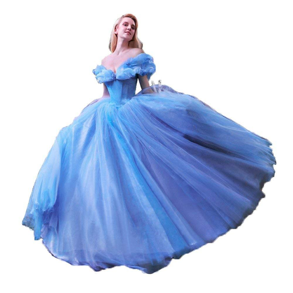 Charmingbridal Ball Gown Princess Cinderella Quinceanera Dresses Butterfly Off The Shoulder Ball Gown Prom Graduation Dresses
