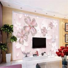 Milofi custom large-scale mural noble and elegant jewelry art living room bedroom background