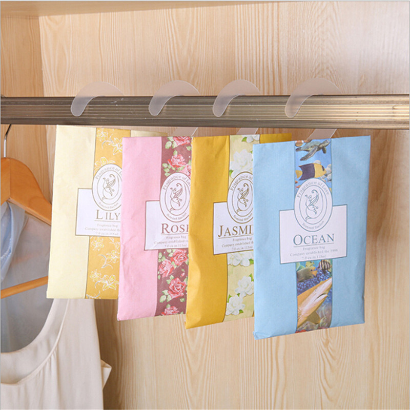 Room Air Freshener Scent Bag Aromatherapy Natural Smell Incense Wardrobe Sachet Perfume Lavender Rose Jasmine Lily Flower