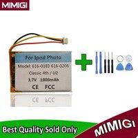 616-0206 1000mah bateria para apple ipod clássico 4th gen/foto u2 a1059 20 40gb acumulador batterie akku + ferramenta presente
