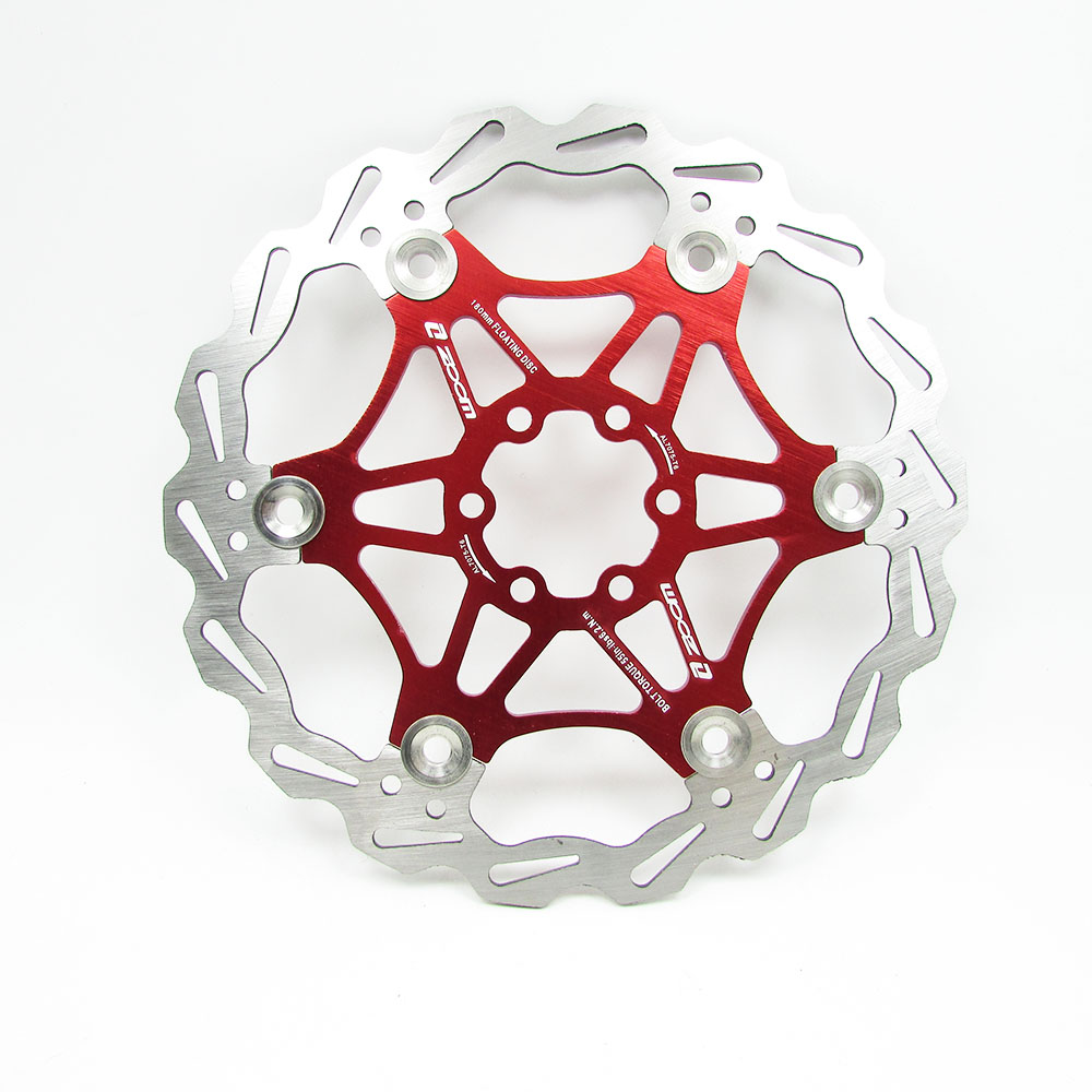 1x SNAIL MTB XC AM Road bike Brake Disc Floating Rotor 160mm 6 Bolts Rotors Red