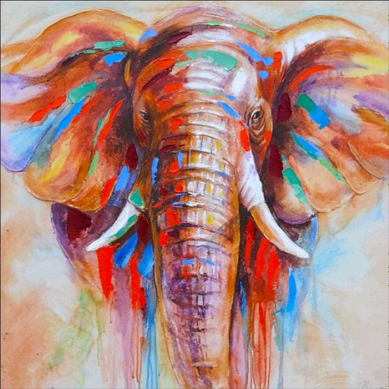 5D DIY Diamond Painting Elephant Embroidery Cross stitch Mosaic Full Diamond Diamond Painting Home Decoration Gift in Diamond Painting Cross Stitch from Home Garden