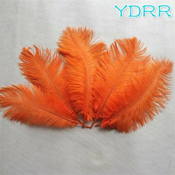 Decorative party favor feathers bleach white ostrich feather imported from South Africa for wedding table decor