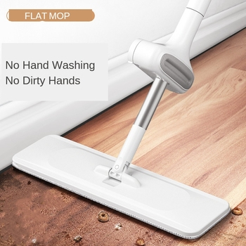 Hands free xiaomi flat mop for wash floor 360 easy spin magic home cleaning tools microfiber mop pads heads cloths household