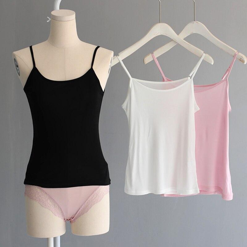 Camisole Top Femme 100% Real Silk Lingerie Undershirt Women Singlet Halter Tank Top Vest Camis Sleeveless Summer XXL