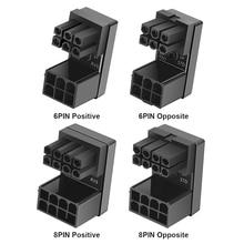 محول VGA PSU رأس الكوع وحدة معالجة الرسومات السلطة التوجيهية موصل PCI E 6Pin 8Pin 180 درجة الدورية لسطح المكتب الرسومات بطاقة الفيديو وحدة معالجة الرسومات