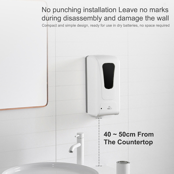 1000ML Automatic Induction Soap Dispenser Wall-mounted Hand Sterilizer Induction Soap Dispenser Sterilization Disinfection Tool