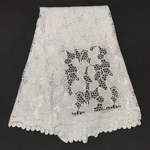 2021 Hot Sale White Swiss Voile High Quality Soft Eyelet Embroidery African Lace Fabric Cotton Materials 5Yards