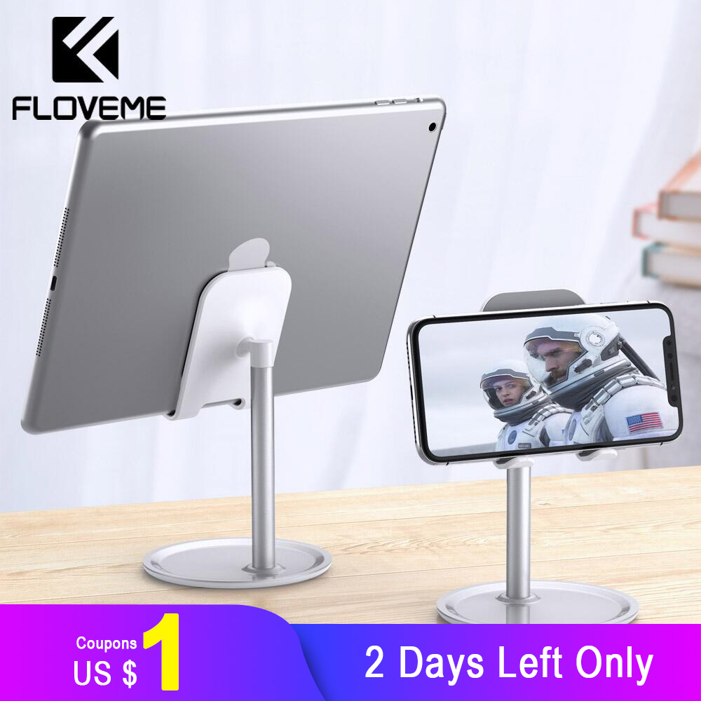 FLOVEME Phone Holder For IPhone XR XS X Universal Tablet Phone Stand For IPad Samsung Huawei Smartphone Desk Stand Mount
