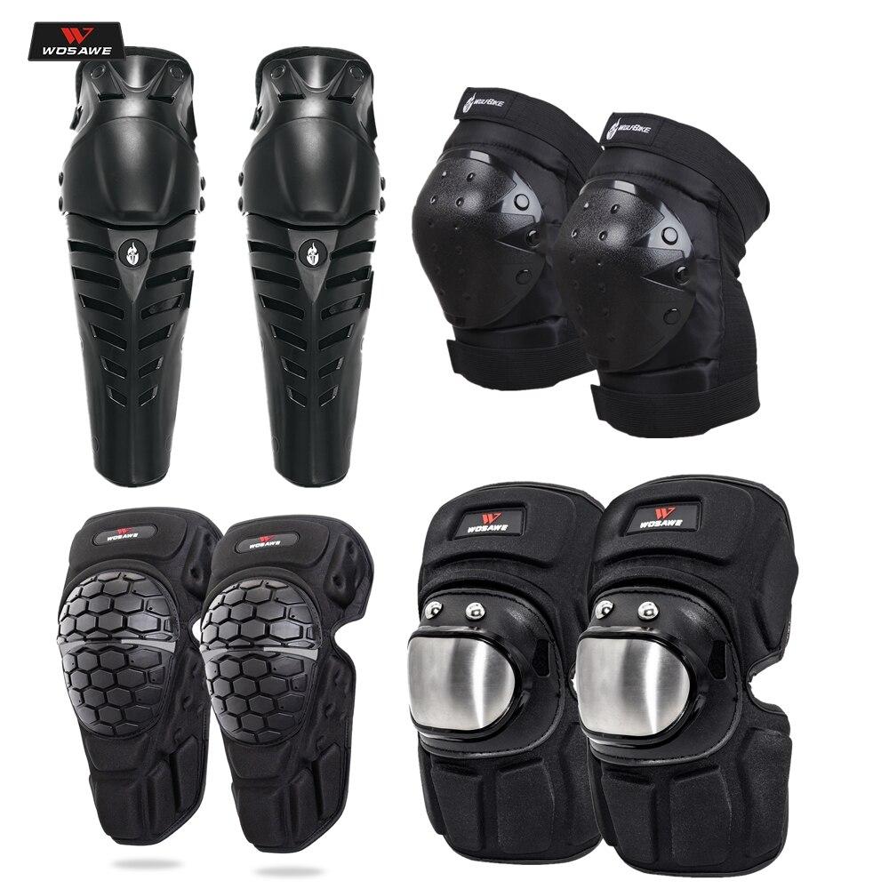 WOSAWE Motorcycle Knee Pad Motocross Knee Guards Motocross Protection Knee Moto Racing Guards Safety Gears Race Brace