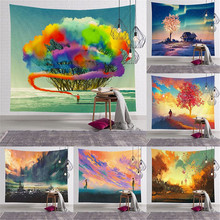 Colorful Bloom Blanket Indian Tapestries Lotus Rose Flowers Wall Hanging Tapestry Curtain Large Size