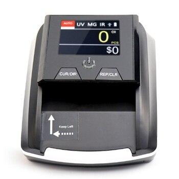 Tragbare Kleine Banknote Bill Detector Stückelung Wert Zähler Falschgeld Detektor Währung Bargeld Tester Maschine EU Stecker