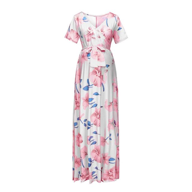 Women's Floral Short-sleeved Dress for Pregnancy 6