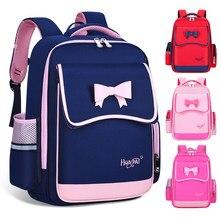 Sac d'école pour filles de 6 à 12 ans, sac à dos de grande capacité avec nœud papillon, joli sac d'école de princesse pour écolières