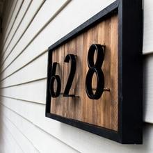 12 см большой 3D современный дом номер двери домашний адрес Номера для дома номер цифровой двери открытый знак Таблички 5 дюймов.#0-9 черный