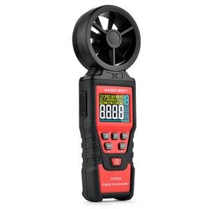 Портативный цветной дисплей HABOTEST HT625, цифровой анемометр, измеритель скорости ветра, измерение объема воздуха, максимальная минимальная ск...