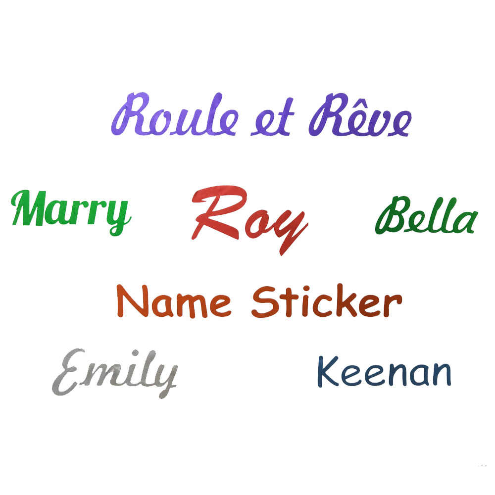 1PCS 비닐 이름 스티커 개인화 된 레이블 사용자 지정 방수 컷 스티커 어린이 편지지 태그 일 용품 레이블