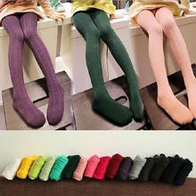 Autumn Winter Baby Kids Girls Cotton Tights Pantyhose Bottom 6 Colors