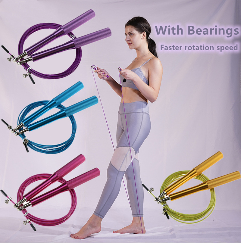 Jump Rope Ultra Speed Skipping Rope Steel Wire Jumping Ropes For Boxing Gym Fitness Training 3 Meters Adjustable Speed Gym