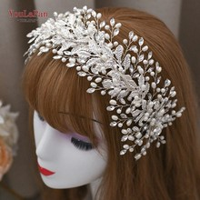 TOPQUEEN HP322 Bridal Headpieces Wedding Rhinestone Hair Accessories Pearl Headband Hair Jewelry Wedding Tiara and Crown(China)