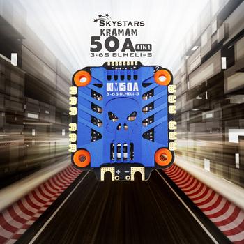 Skystars KM50A 3-6S 4 w 1 ESC BLHeli_S prędkość ESC płyta kontrolera wsparcie Dshot150 Dshot300 Dshot600 dla FPV RC Racing Drone tanie i dobre opinie SKYRC 41*46*7 6mm WALKERA(dianzi)