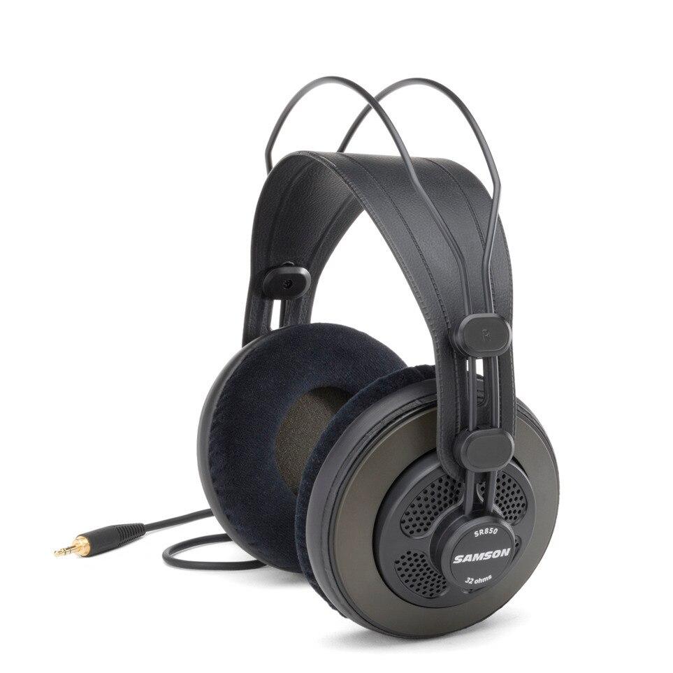 100% Original Samson Sr850 Professional Monitor Headset Wide Dynamic Semi-open-back Studio Reference Headphones For Musician DJ