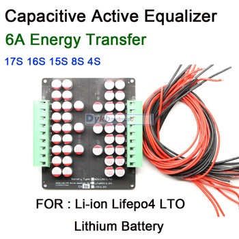 1A 3A 5A 6A Active Equalizer Balancer Board Energy Transfer Balance Li-ion Lifepo4 LTO Lithium Battery BMS 16S 3S 4S 6S 7S 8S