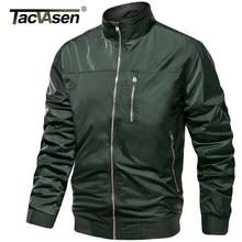 TACVASEN Lightweight Water Resistant Jacket Fall/Spring Men's Tactical Bomber Jackets Pilot Zipper Pocket Work Thin Outwear