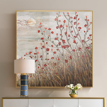 After The hand-painted Oil Painting Decorative Painting Modern Living Room Restaurant Mural Backdrop Floral Abstract Paintings S