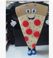 New Pizza Mascot Costume Cartoon Fancy Adult Size Nice Looking For Advertising Birthday Gift Xmas