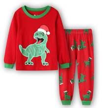 Детские пижамы tuonxye Рождественский пижамный комплект с рисунком