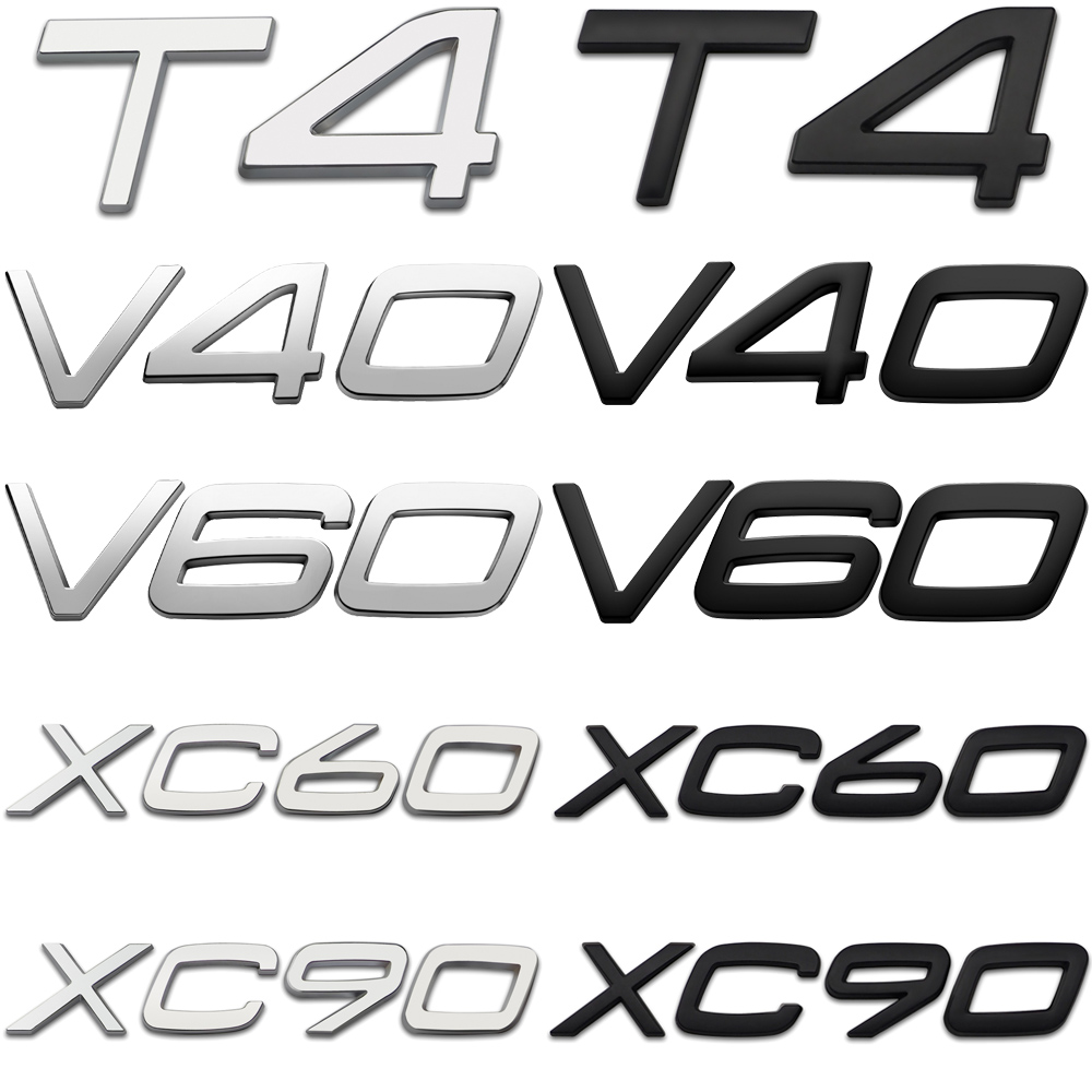 Auto Trunk Rear Tailgate XC60 XC90 V40 V60 S60 T4 Letter Label Nameplate Badge Sticker Car Accessories For Volvo XC40 XC70 XC80