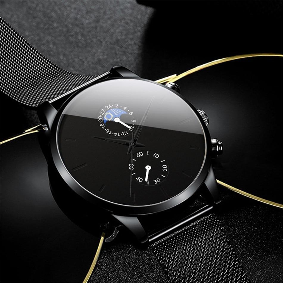 Hec83c32c59a447c186952869bf4392e3i Fashion Mens Business Black Watches Luxury Stainless Steel leather Belt Watch Quartz Men Wrist Watch Relojes Hombre