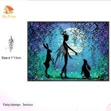 fairy Clear Stamps whimsical whisps Scrapbook Card album paper craft handmade silicon rubber roller transparent stamps никита подгорнов смарт секси новый тренд женской сексуальности