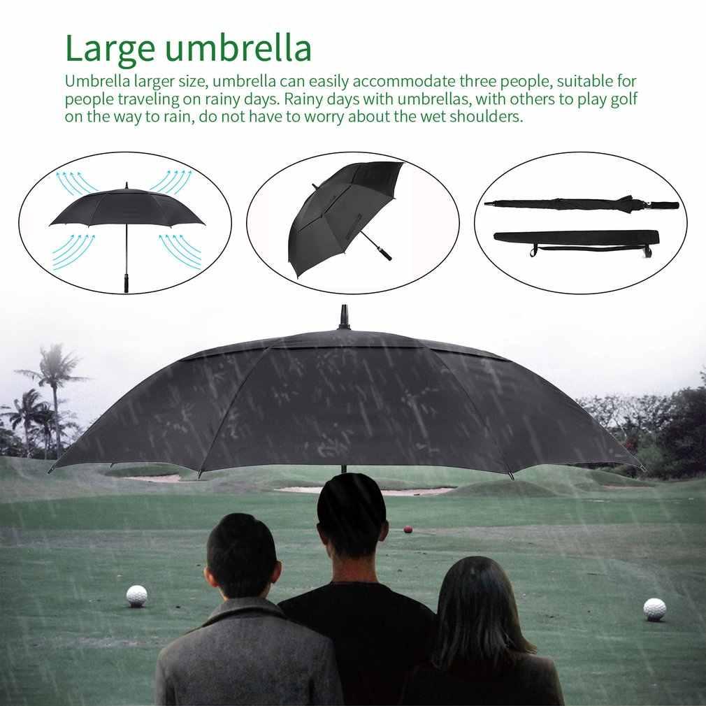 اضافية كبيرة مظلة حقن التقنيات الألياف الزجاجية مظلة غولف رمح مزدوجة المظلة يندبروف مقاوم للماء التلقائي مفتوحة