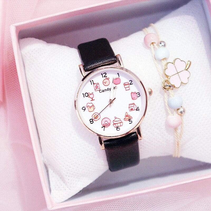 Fashion Cute Pretty Princess Style Children\'S Watches Kids Student Girls Quartz Leather Wrist Watch Clocks