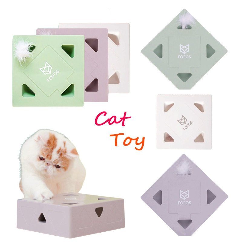Brinquedo eletrônico interativo do gato do animal de estimação usb que carrega sqaure caixa mágica brinquedo esperto que provoca a vara do gato jogos engraçados para gatos do gatinho produto