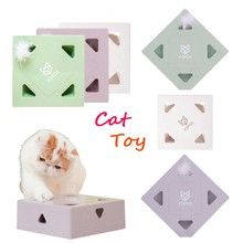 Smart Cat Toy Interactive Sqaure Magic Box Teasing Cat Stick Electronic Catnip Training Toy Funny Games For Kitten Kitty Product