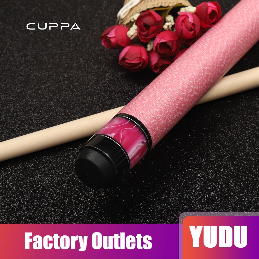 Cuppa Pink Pool Cue Stick Kit with Case Cloth Tip Chalk Maple Billiard Kit 11 75mm 13mm Tip Billiard Girlfriend Gift China 2019 in Snooker Billiard Cues from Sports Entertainment