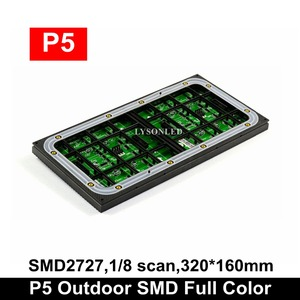 Image 2 - P5 Outdoor SMD Full Color Led Display Module 64x32 Pixels, Water Resistant  LED Video  Electronic Taxi  Sign