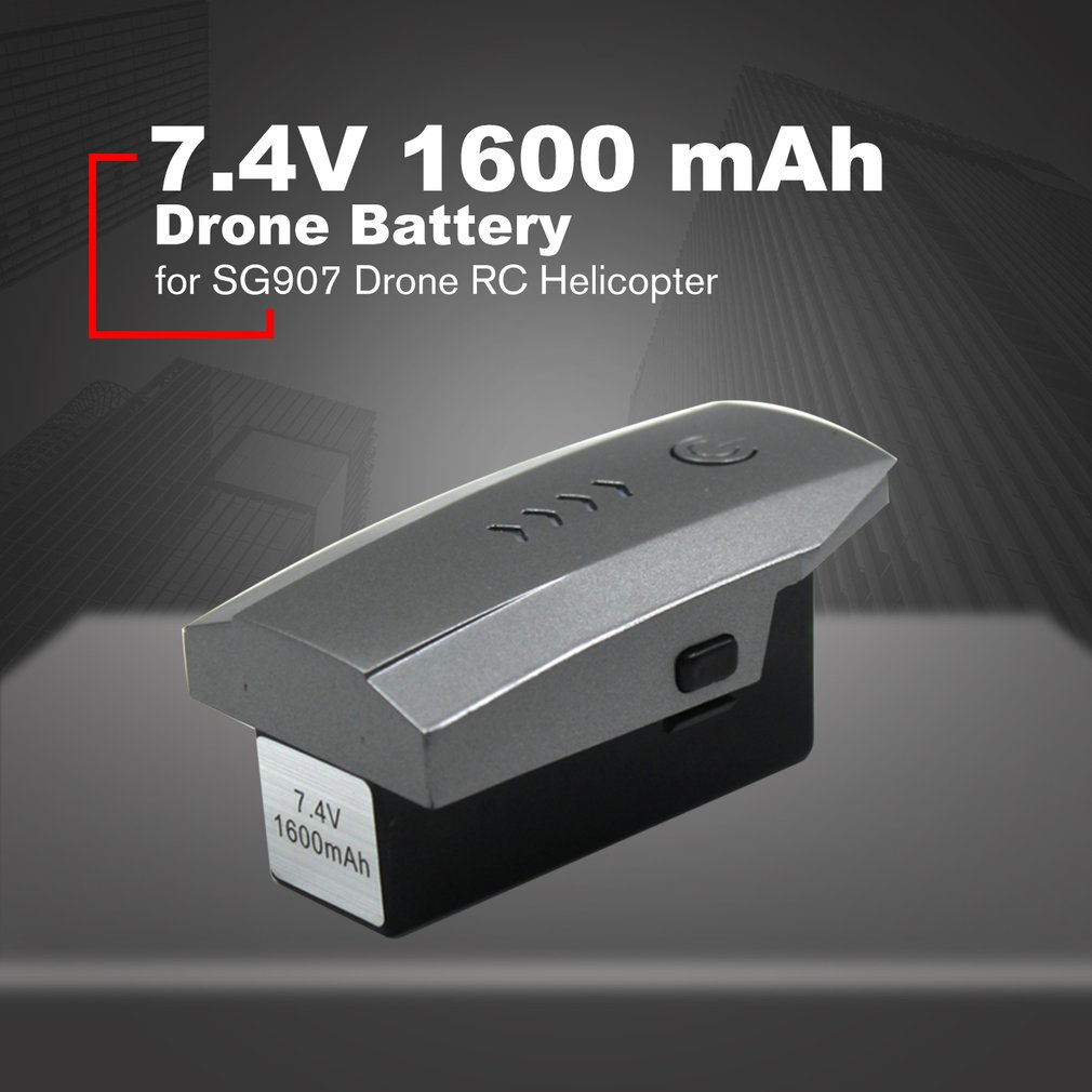 Drone Battery Spare Battery Replaceable Lithium Battery 7.4V 1600 mAh LI PO Battery for SG907 Drone RC Helicopter|Drone Batterys| |  - title=