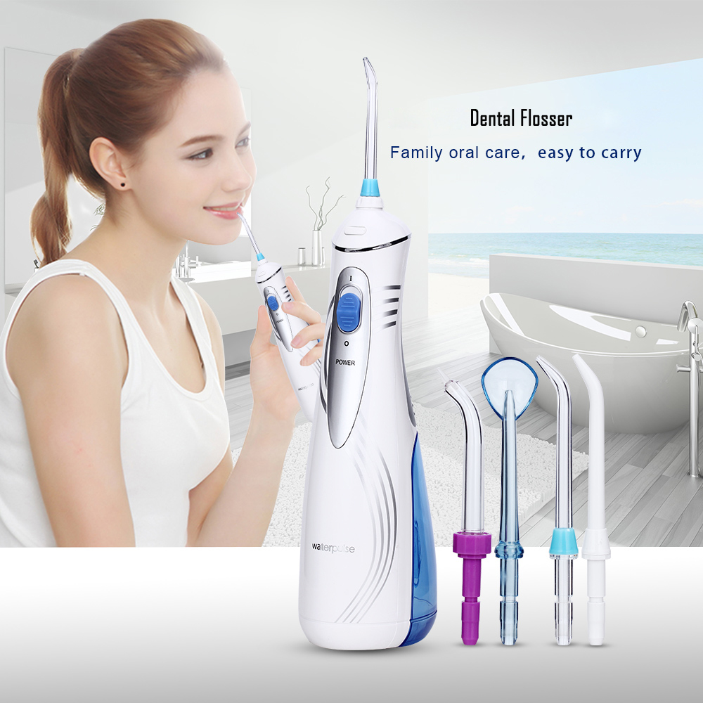 Waterpulse V500/V400P/V400 Oral Irrigator Portable Cordless Irrigators With Travel Case Rechargeable Battery Water Flosser Teeth