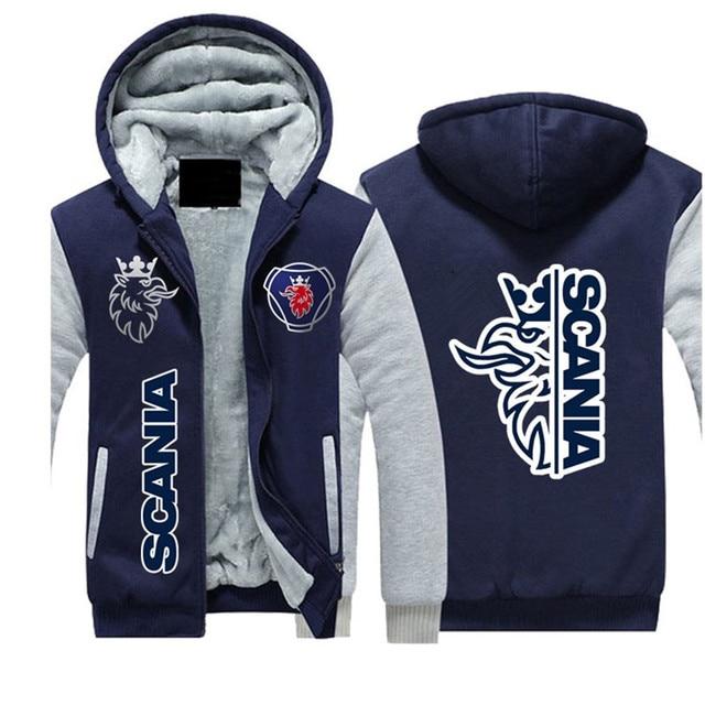 2021SCANIA Winter Hoodies Men Seat Logo Jacket Thicken Warm Fleece cotton Zipper Raglan Coat Male Tracksuits 3