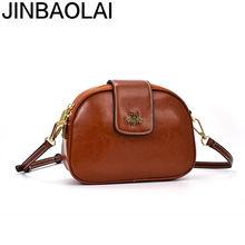Jinbaolai новый стиль 2020 женская сумка из коровьей кожи Модная